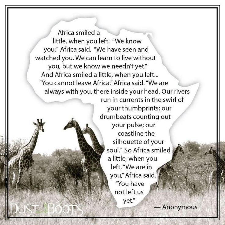 A lovely true poem for expats who've had to leave Africa.
