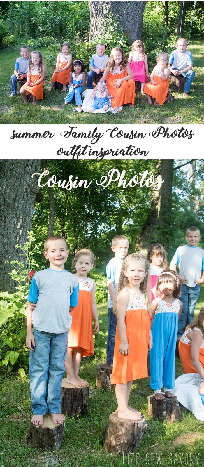coordinating outfits for cousins from sewing inspiration from Life Sew Savory