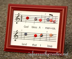 This clever button craft will work with any song you love.  Might have to make it to It's the Most Wonderful Time of the Year.
