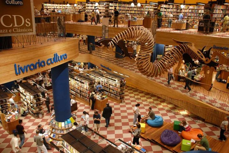 The Livraria Cultura in São Paulo, Brazil | 17 Bookstores That Will Literally Change Your Life