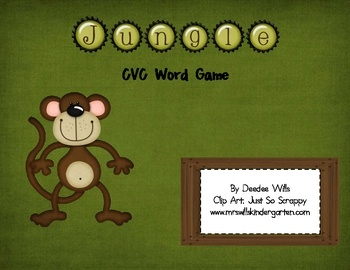 Perfect for your Jungle or Zoo Animals Theme.  Your kindergarten or 1st grade will practice their CVC words during a literacy station or small grou...