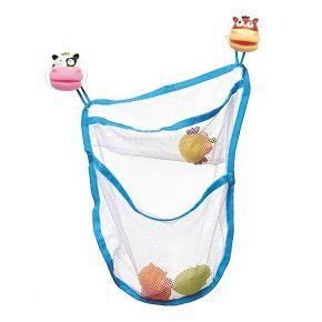 Teddykompanietin säilytysverkko kylpyleluille. Erittäin kätevä tapa säilyttää lapsen kylpyleluja. Koko 35 x 45 cm.