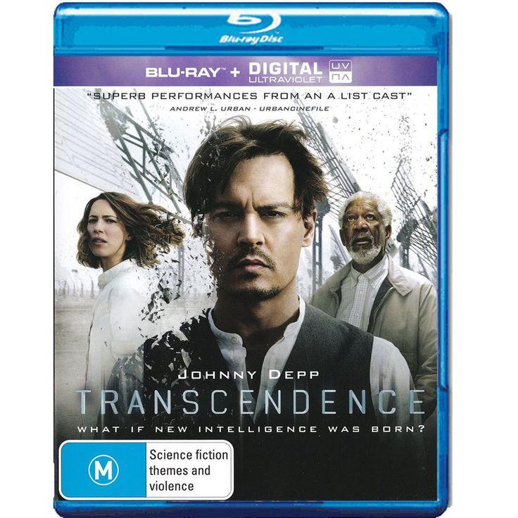 Transcendence Blu-Ray+ Digital Ultraviolet Region B  Brand New - Johnny Depp