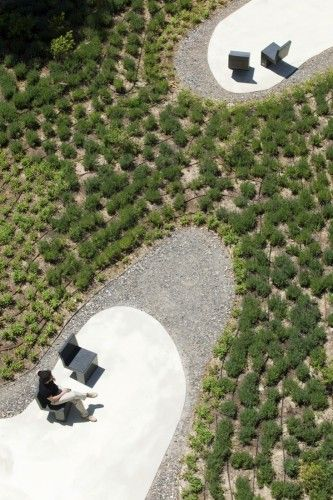 Landscape - O'Donnell Garden - Estudio Caballero Colón. uses many varieties of recycled materials, including, crushed concrete, to  create a low ecological and high social impact space