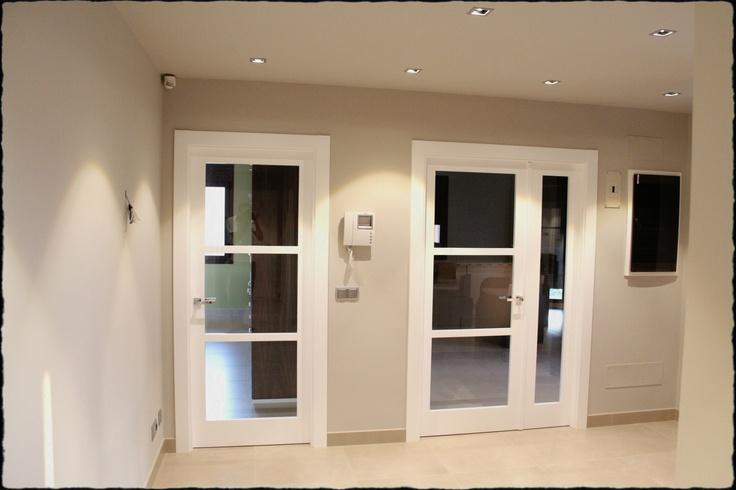 Puertas lacadas en blanco puertas pinterest puertas for Puertas habitaciones