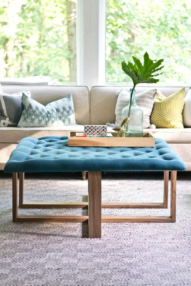 Learn how to build a custom upholstered tufted ottoman ...