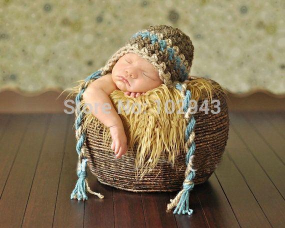 gratis verzending kleurrijke bal stijl met de hand gehaakt babymutsje fotografie rekwisieten pasgeboren baby cap