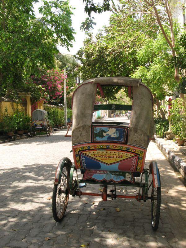 Rickshaw à Pondichery en Inde, un voyage magnifique avec Inde en liberté