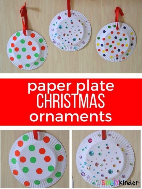 Paper Plate Christmas Ornaments walmart associate fun day