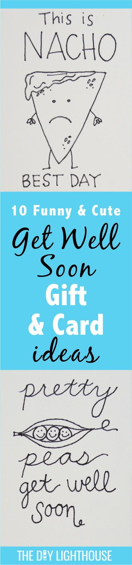 get well soon gift and card ideas | funny and cute DIY craft idea for saying get better | hospital or doctor recovery message to give in a gift basket.