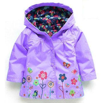Waterproof Trench Coat For Boys Girls Jacket Windbreaker Kids Raincoat Outdoor Wear Children Clothes