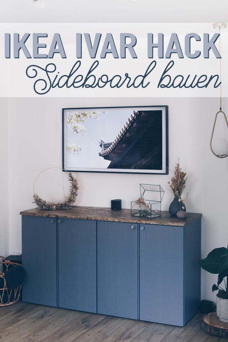 Diy Ikea Ivar Hack Diy Sideboard Fürs Wohnzimmer Selberbauen Anleitung Ikea Ivar Diy Sideboard Ikea