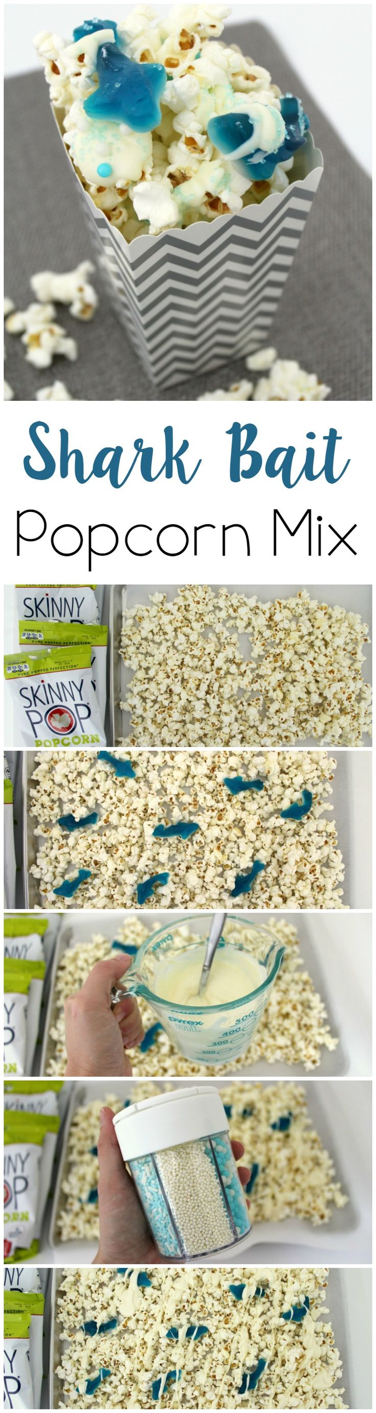Shark Bait Popcorn Mix // Life Anchored Shark Week