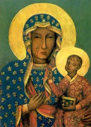 Our Lady of Czestochowa, Poland, said to have been painted by St. Luke the gospel writer and Evangelist.