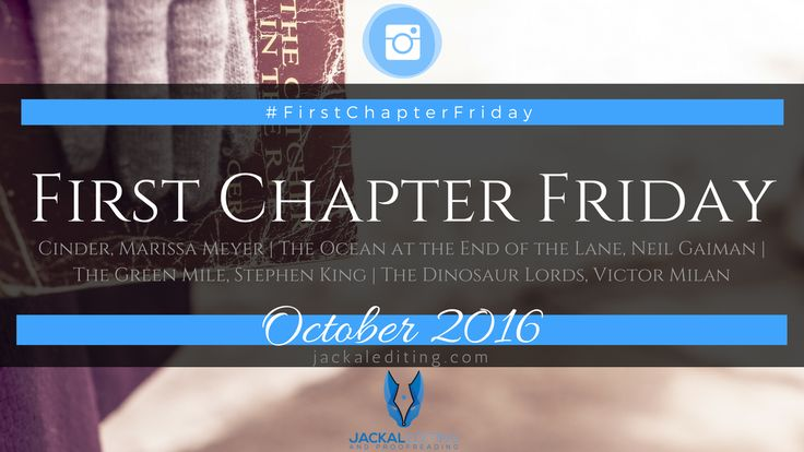 """Don't know what #FirstChapterFriday is? Cinder, Marissa Meyer Engaging First Sentence? The screw through Cinder's ankle had rusted, the engraved cross marks worn to a mangled circle. I found this sentence to be a classic """"I overestimate how much my reader cares about my story and its characters"""". I could picture something, which was great …"""