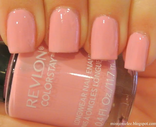Super cute baby pink polish . Revlon Colorstay in Café Pink.