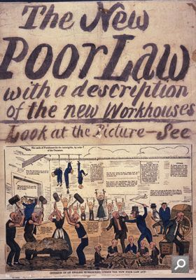 The New Poor Law poster 1837. The New Poor Law ensured the poor were placed in workhouses. Children in the workhouses were given some schooling. Richard Oastler spoke out against the workhouses calling them 'Prisons for the Poor'. The poor feared the threat of entering the workhouses.