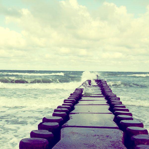 "Fotografie Retro ""Die Kleinen Ostsee"" // Photography baltic sea by picture.arts via DaWanda.com"
