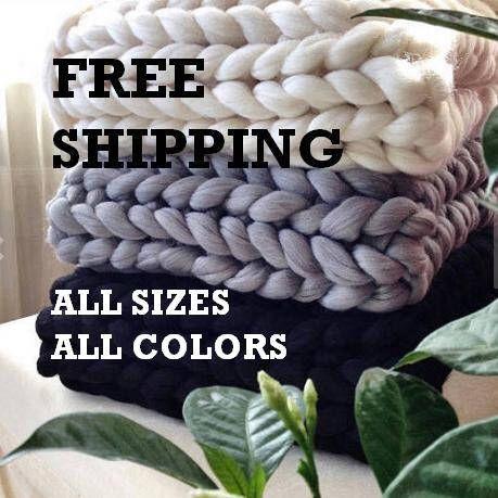 FREE SHIPPING!!!100% merino wool blanket Chunky wool blanket  wool blanket Arm knit blanket Super chunky blanket Chunky knit blanktet by ChunkyWoolStudio on Etsy https://www.etsy.com/listing/498985615/free-shipping100-merino-wool-blanket