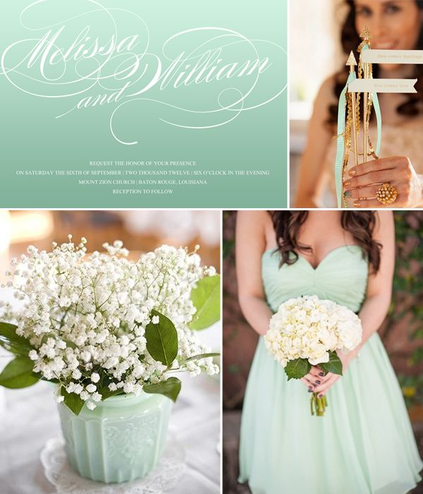 342 best images about mint green and gold wedding for Mint and gold wedding dress