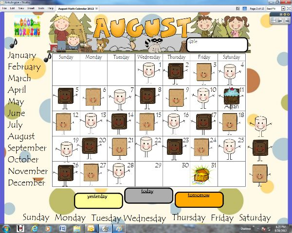 Kindergarten Calendar Smartboard : Best images about smartboard calendar on pinterest
