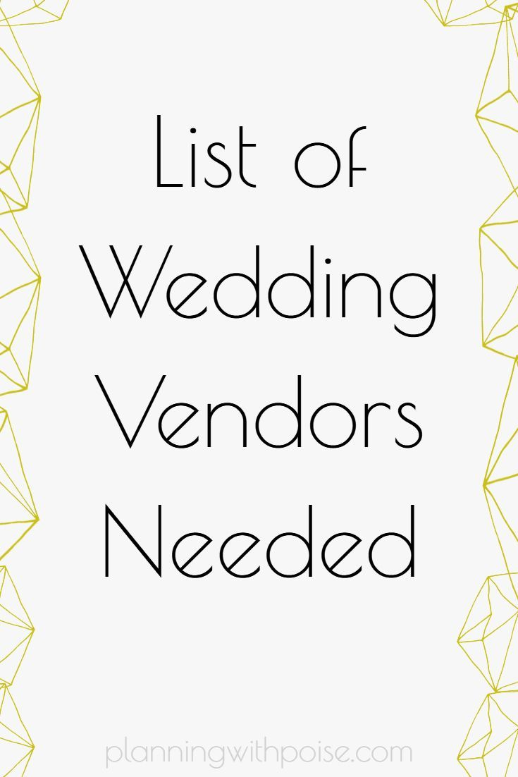 Wedding Vendors Literally Make Your Wedding Plans Into Reality Do You Know Which Ones You L Wedding Planning Worksheet Wedding Vendors Wedding Planning Tips