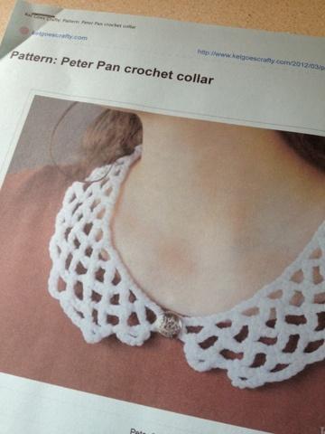 Free Ravelry Crochet Pattern: Peter Pan Crochet Collar...so cute, I love this look!