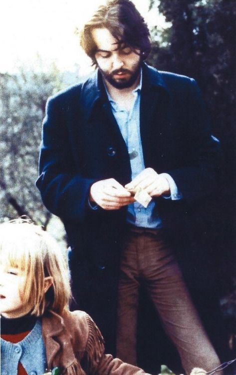 Paul and Heather McCartney. Scotland. 1969. Photograph by Linda McCartney.