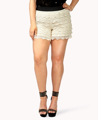 Forever21+ Plus Size Crochet Lace Shorts: Forever 21, Plus Size, Crochet Shorts, Size Fashion, Sizes Crochet, Crochet Lace, Forever21, Lace Shorts, F21 Crochet