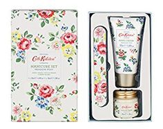 Absolutely love Cath Kidston gift for Mothers Day or a birthday. Cute manicure set #gift #cathkidston #nails
