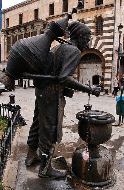 Sherbert seller statue in Gaziantep - TURKEY