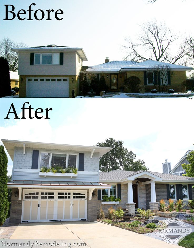 34 best split level remodels images on pinterest house for Redesigning the front of your house