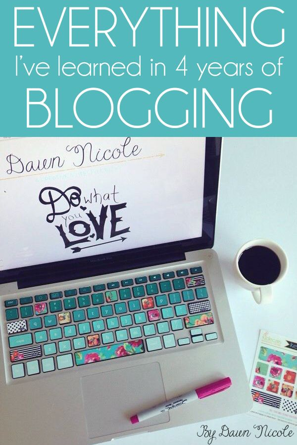 Blogging Resources: Everything I've Learned the Past 4 Years of Blogging | bydawnnicole.com