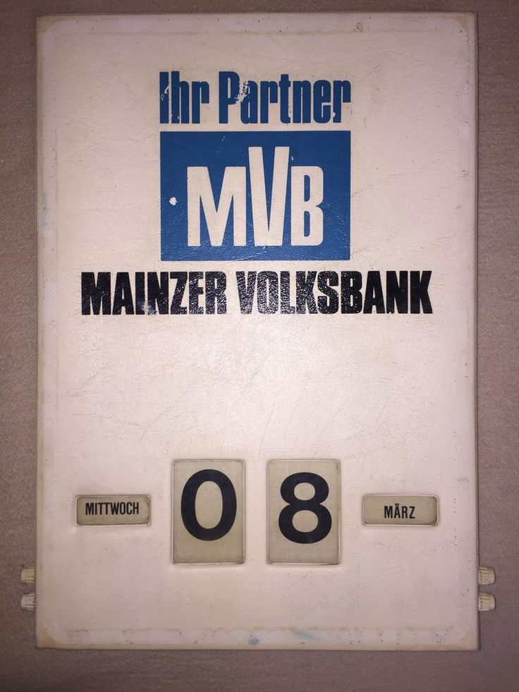 MVB Werbekalender Drehzahlenkalender ewiger Kalender Rollzahlkalender perpetual