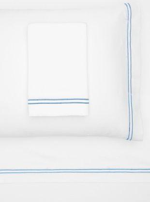 47% OFF Garnier-Thiebaut Nice Hotel Style Sheet Set (White/Blue Sistine)