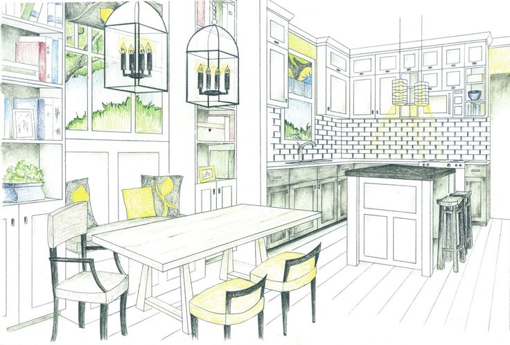 Dining table elevation drawing google search kitchen for Dining room elevation