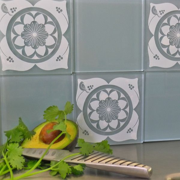The White Bembridge Mibo Tile Tattoos Are Fresh Cheerful Decals That Brighten Kitchens And Baths