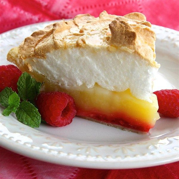 """Raspberry Lemon Meringue Pie I """"I made this for a work Pie Baking Contest and won 1st place. """""""