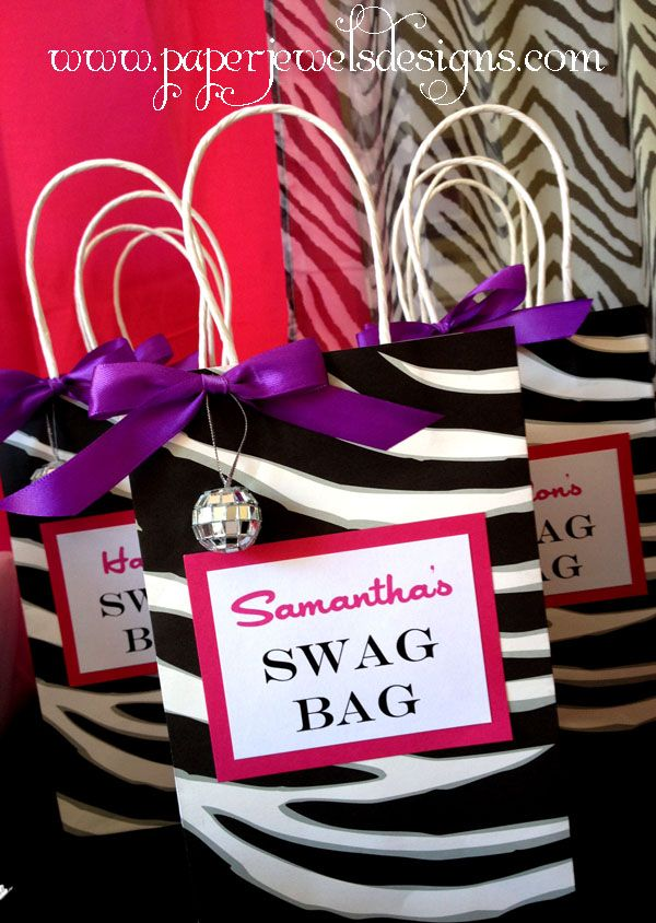 Rock Star Birthday Party Swag Bags ~ www.paperjewelsdesigns.com