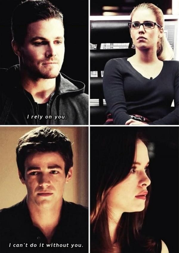 Felicity, Oliver, Barry and Caitlin I ship olicity and I guess I can ship baitlin (if that's how they call them... idk) #arrow #the flash #olicity