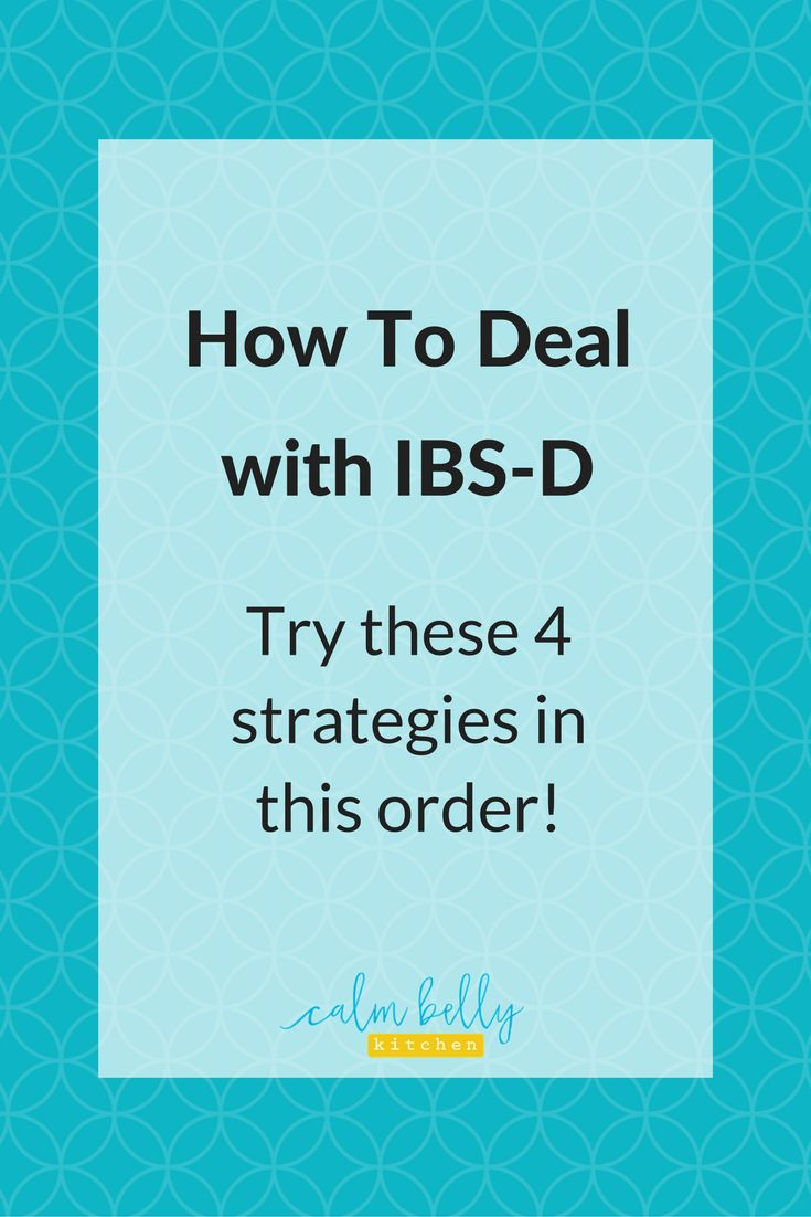 Learn 4 strategies to help when diarrhea is your main symptom (IBS-D). These tips go in order from adjustments to the low FODMAP diet to exploring new options like the Specific Carbohydrate Diet. You'll also learn the specific type of fiber that's most helpful for IBS-D. Click through to get the strategies!