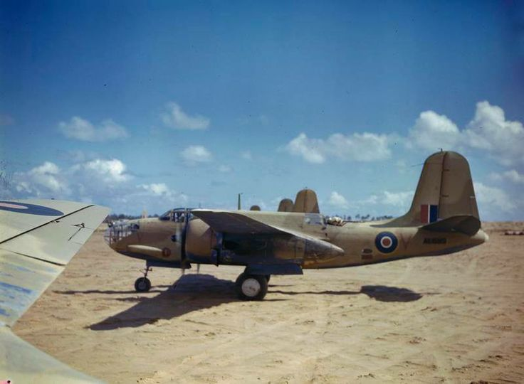 Douglas Boston aircraft of No 24 Squadron, South African Air Force lined up at Zuara, Tripolitania, March 1943.