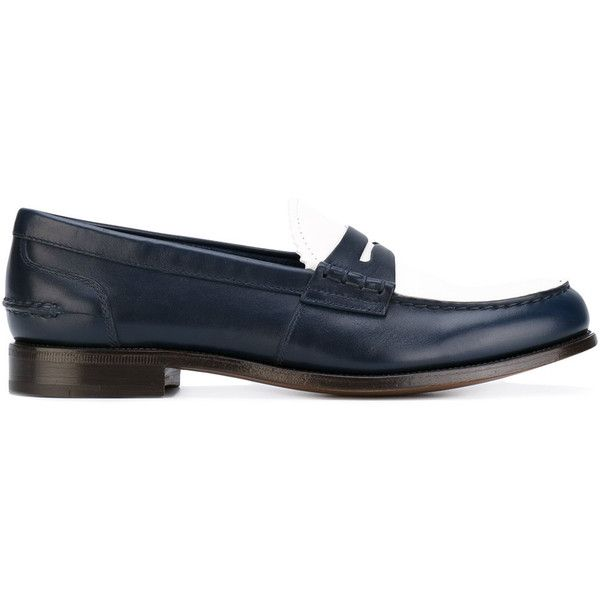 Church's Sally loafers (155.790 HUF) via Polyvore featuring shoes, loafers, blue, blue leather loafers, real leather shoes, church's footwear, leather loafer shoes and church's shoes