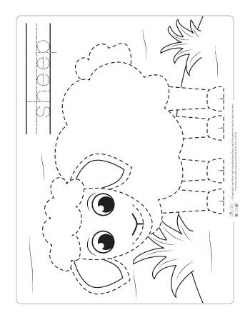 farm animals tracing coloring pages free printables for kids farm animals for kids farm. Black Bedroom Furniture Sets. Home Design Ideas