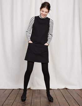 Trafalgar Modern Dress Boden black dress striped shirt tights