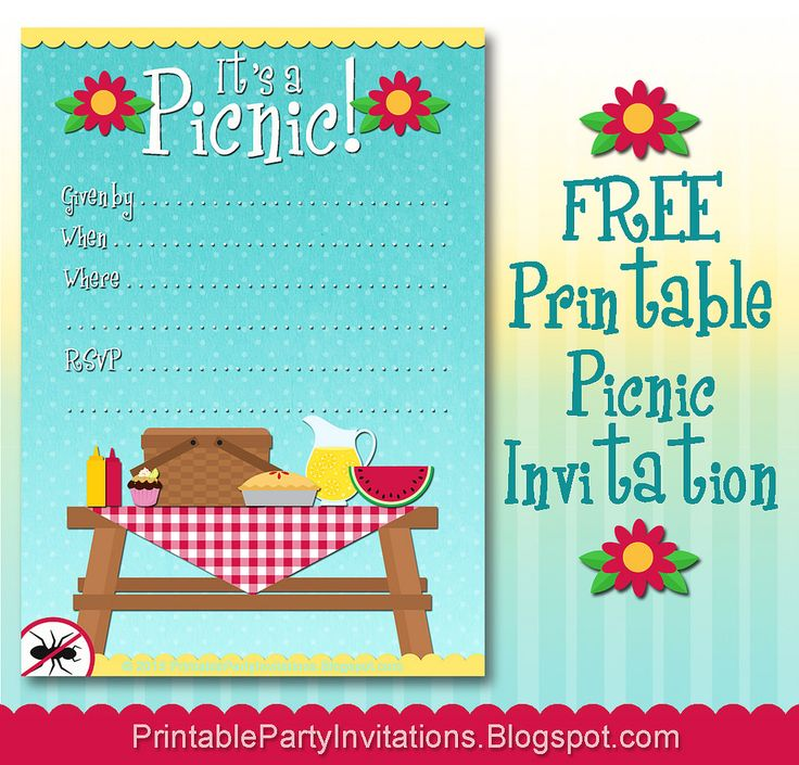 The  Best Picnic Invitations Ideas On   Picnic Theme