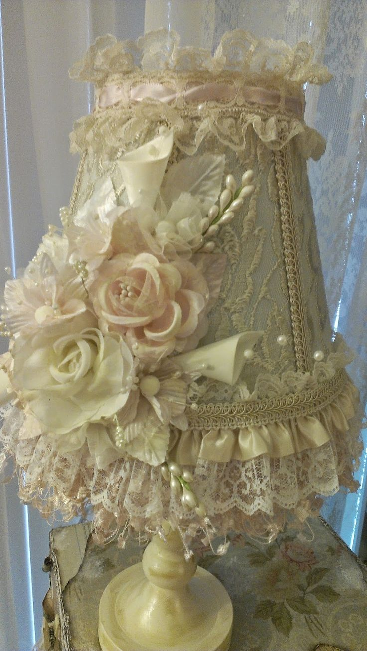 735 best shabby chic lampshades! images on Pinterest ...