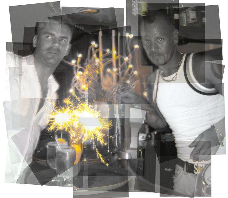 https://flic.kr/p/DJAR4a | Sparks fly at Pub Nestor | Bar Nestor in Yumbo Center, Playa del Ingles, Gran Canaria
