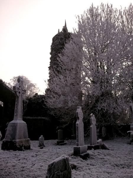 Dromkeen graveyard in winter's grip