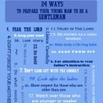 FREE Printable - 24 Ways to Prepare Your Young Man to be a Gentleman